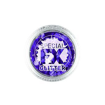 Confetti glitter roxo 2G solta, Facepaint/maquiagem
