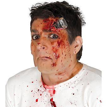 Adhesive Bolt Scar With Blood Halloween Make Up
