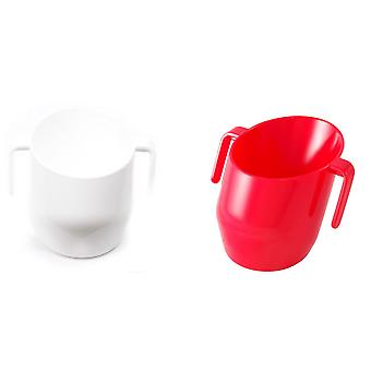 Doidy Bundle - White Solid And Red Solid - 2 Items Supplied