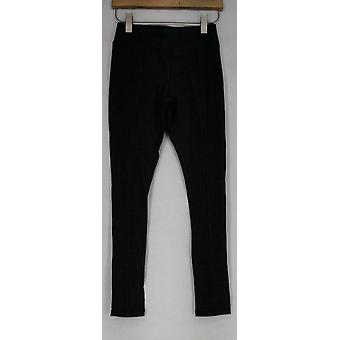 One World Leggings Pleated Pull On Stretch Knit Dark Gray A421505
