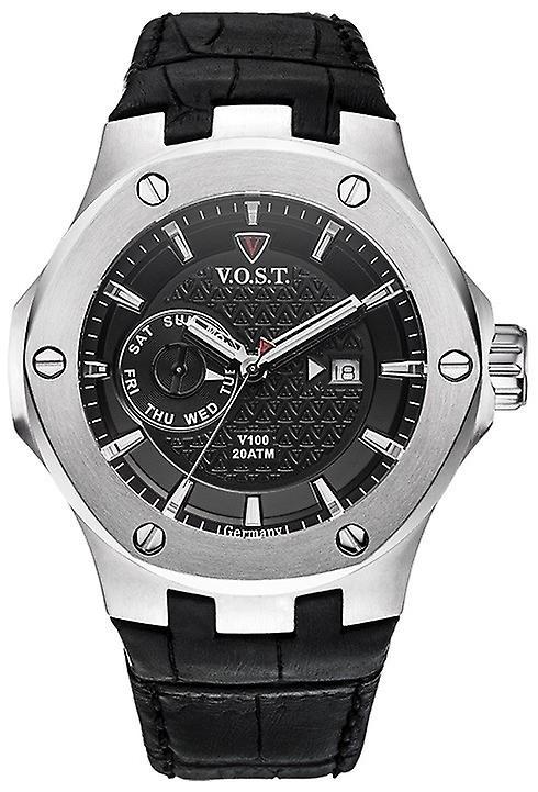 V.O.S.T. Germany V100.004 Steel Multifunction Heren Horloge 44mm