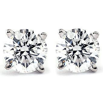 Platinum 1/2ct Diamond Studs