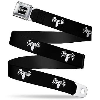 Venom Spider Logo Full Color Black Seatbelt Belt