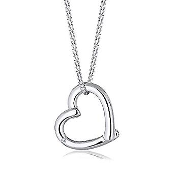 Diamore Women's Necklace in Silver 925 with Diamond - Heart Shape