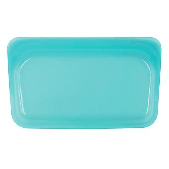 Stasher Plastic-Free Reusable Snack Bag, Aqua 19 x 12cm