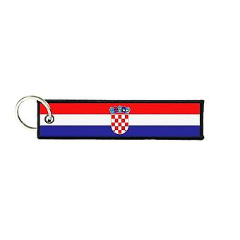 Port Cles Key Cle Homme Homme Fabric Brode Prints Croatian Croatia Flag