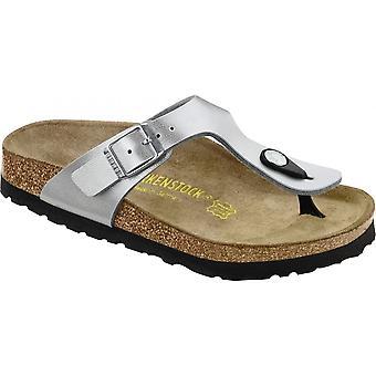 Birkenstock Kids Gizeh sølv 846153, single toe post Sandal