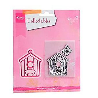 Marianne Design  Birdhouse Home Collectables Cutting Die and Clear Stamp Set,