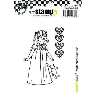 """Carabelle Studio """"Uma garota e sua melhor amiga"""" agarrar-se carimbo, branco/transparente, A7"""