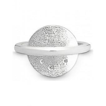 QUINN - Ring - Damen - Silber 925 - Wess. (H) / piqué - Weite 56 - 0212586