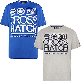 Crosshatch Mens Large Go Plus Short Sleeve Crew Neck Cotton T-Shirt Tee Top