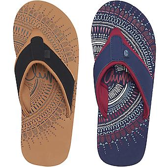 Animal Womens Swish Placement Casual Summer Slip On Beach Holiday Flip Flops