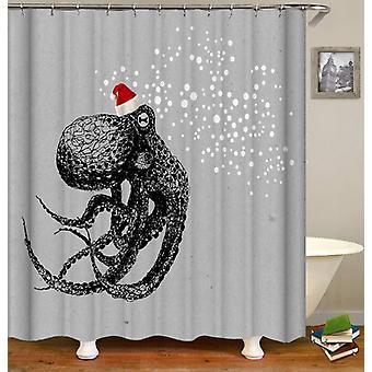 Christmas Spirit Octopus Shower Curtain