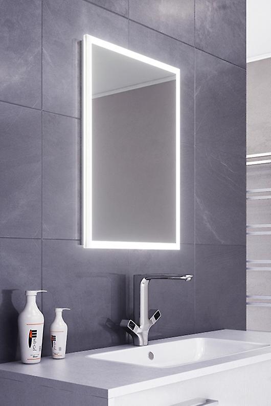 Leanna Slimline Edge LED Bathroom Mirror & Demister Pad & Sensor k470