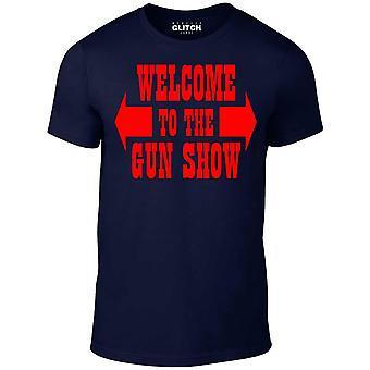 Men's welcome to the gun show crew neck t-shirt