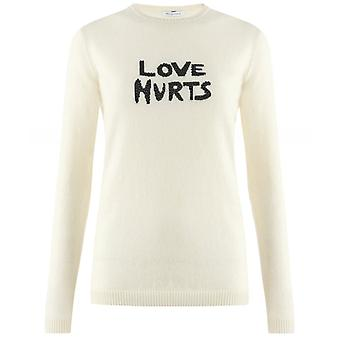 Bella Freud Love Hurts Cashmere And Wool Blend Jumper