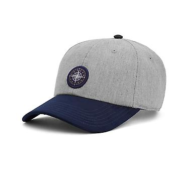 Cayler & sons Snapback Cap - navigating curved heather grey