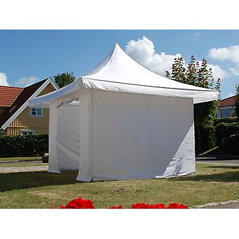 Vouwtent/Easy up tent FleXtents Pagoda Xtreme 50 3x3m / (4x4m) Wit, inkl. 4 Zijwanden