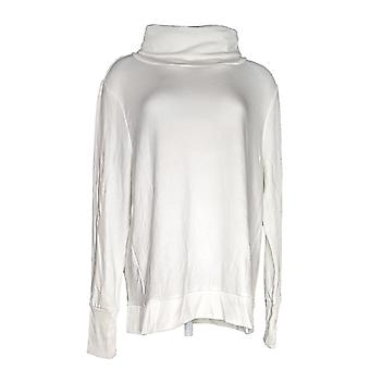 Anybody Women's Top Plush Terry Cowl-Neck Ivory A345169