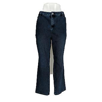Belle by Kim Gravel Women's Petite Jeans Flexibelle Straight Blue A355048
