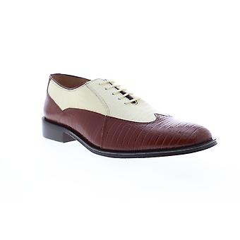 Giorgio Brutini Melby  Mens Brown Leather Dress Lace Up Oxfords Shoes