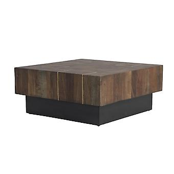 Light & Living Coffee Table 70x70x30cm Macuma Wood And Black