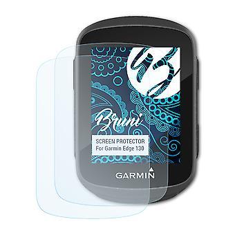 Bruni 2x Schutzfolie kompatibel mit Garmin Edge 130 Folie