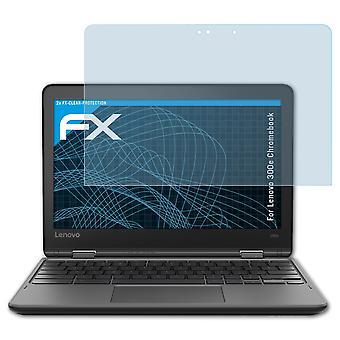 atFoliX Verre film protecteur compatible avec Lenovo 300e Chromebook 9H Hybride-Verre