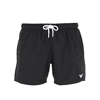 Emporio Armani Small Logo Black Swim Shorts