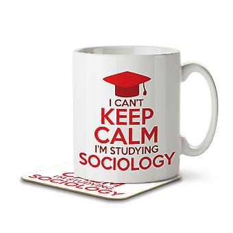 I Can't Keep Calm I'm Studying Sociology - Mug and Coaster