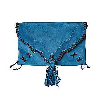 Joe Browns Sassy Suede Whip Stitch Bag - Woman Blue One Size