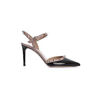 Valentino Garavani Tw2s0s98vnwn91 Women's Black Leather Sandals