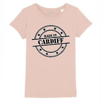 STUFF4 Girl's Round Neck T-Shirt/Made In Cardiff/Coral Pink