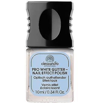 Alessandro Professional Maniküre - Pro Weiß Glitter Nagel Effekt Polnisch 10ml (3019)