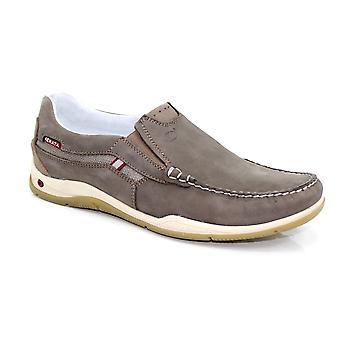 Grisport Claymore Nubuck Brown Boat Shoe