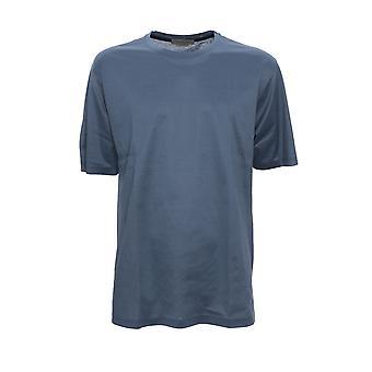 Corneliani 00g5000025000007 Men's Blue Cotton T-shirt