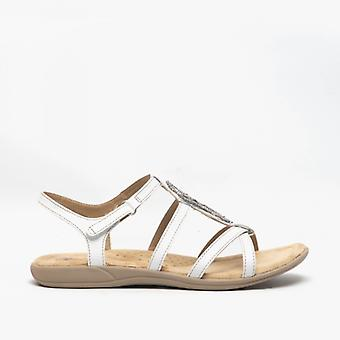 Earth Spirit Vancouver Ladies Leather Sandals White