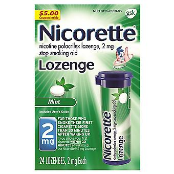 Nicorette nikotin pastil, 2 mg, nane, 24 ea
