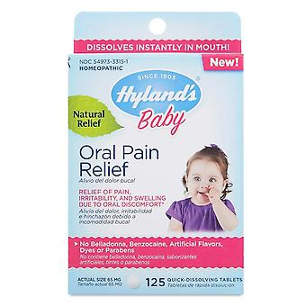 Hyland's baby oral pain relief, quick-dissolving tablets, 125 ea