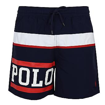 Ralph lauren men's blue traveller swim shorts