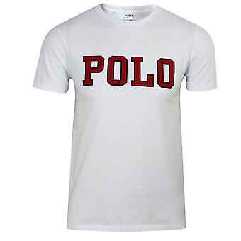 Ralph lauren men's white polo script t-shirt