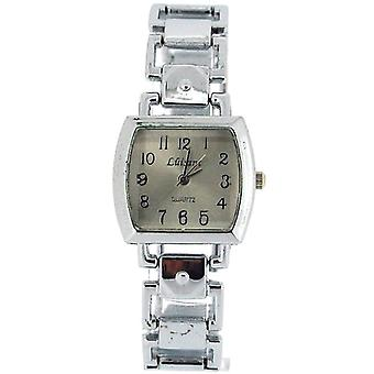 Die Olivia Collection Damen quadratisch Silber Zifferblatt Armband Strap Dress Watch COS46