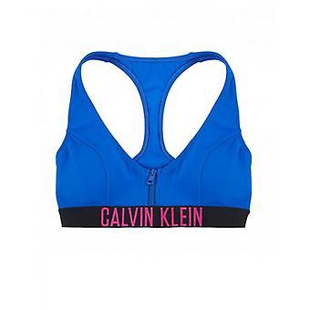 Calvin Klein Swimwear Zip Logo Bralette Bikini Top