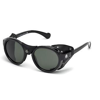 Moncler ML 0046 01R Shiny Black/Polarised Green Sunglasses