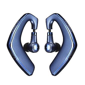 Pincun w3 tws wireless bluetooth earphone flexible ipx7 waterproof sports earhooks headphone with mic for iphone xiaomi huawei (blue)