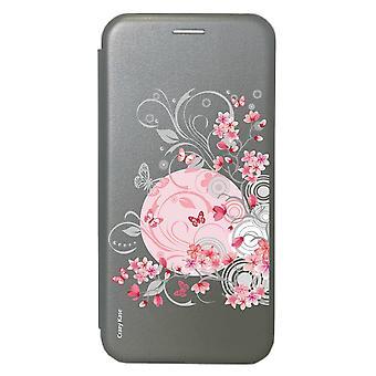 Fall für Samsung Galaxy S20 Ultra grau Muster Blumen und Schmetterlinge