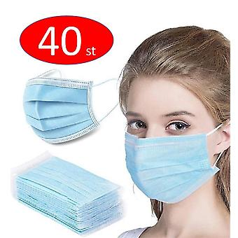 40PCS Máscara facial anti-poeira descartável protetora, munskydd, mundschutz