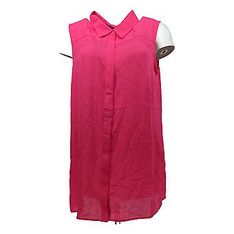Joan Rivers Classics Coleção Women's Top Sleeveless Flowy Pink A291876