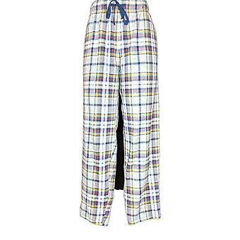 Cuddl Duds Frauen's Pyjama Hose Fleecewear Stretch Neuheit blau A371296