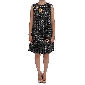 Dolce & Gabbana grau Wolle kurz Crystal Teddybär Dress--DR10903792